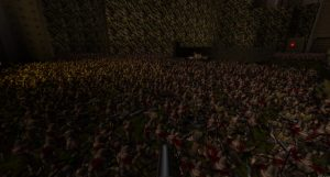 Crowd waiting for AfterQuake release